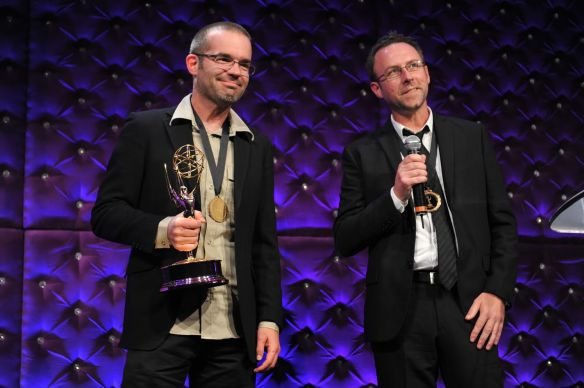 Thomas and David Winning Emmy