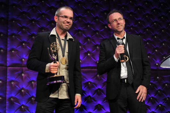 Thomas and David Winning Emmy